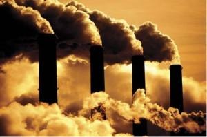 réchauffement climatique usine cheminées